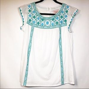 Romeo & Juliet Couture Embroidered Blouse Size M